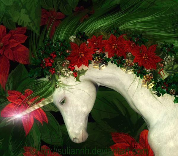 Yule Unicorn http://fc01.deviantart.net/fs71/f/2010/360/c/0/c060852ff79278f09f2069f6e70b3928-d1rei3t.png