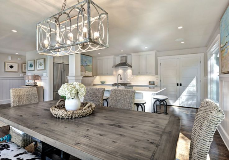 Stunning 80 Gorgeous Farmhouse Dining Room Table to Fuel Your Remodel https://cooarchitecture.com/2017/07/20/80-gorgeous-farmhouse-dining-room-table-fuel-remodel/