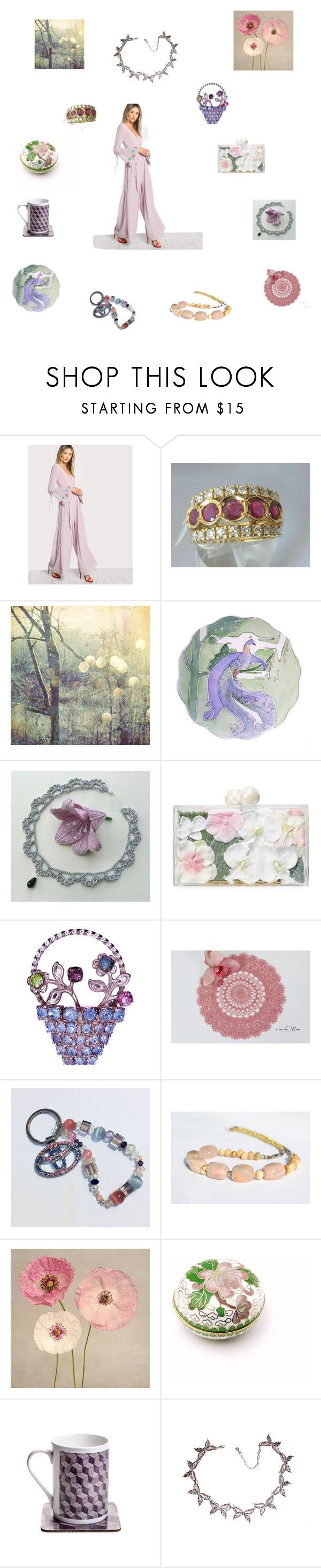 """""""Pastel shades for her"""" by einder ❤ liked on Polyvore featuring Haviland and Ashlyn'd"""