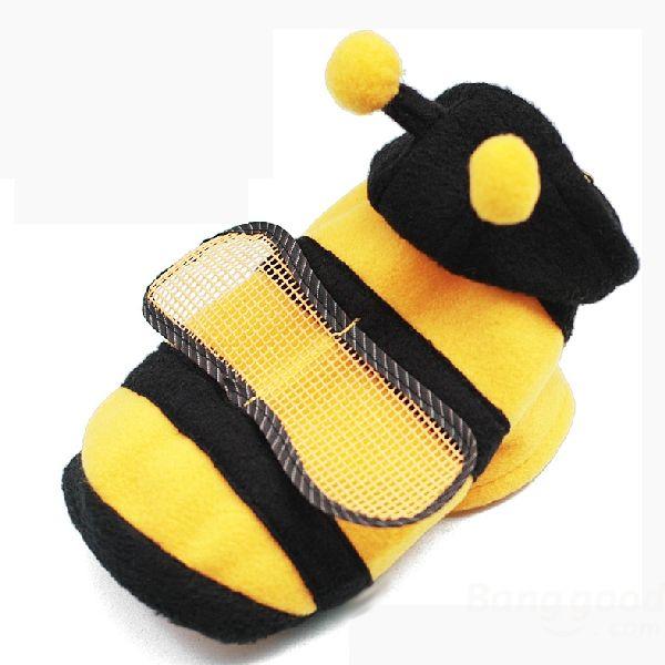 Wholesale Cute Pet Dog Cat Bumble Bee Dress Up Costume Apparel Coat Clothes Banggood £2
