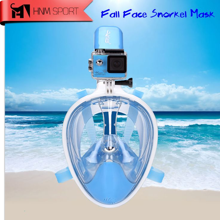 2017 New Scuba GoPro Camera Snorkel Mask Underwater Anti-fog Anti-leak Technology Full Face Snorkeling Diving Mask Water Sport