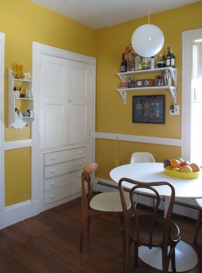 Yellow Kitchen Walls White Trim House Inspiration Board