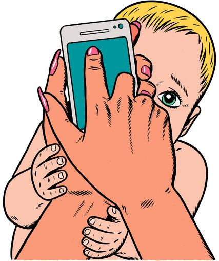 Can you remember the last time you were in a public space in America and didn't notice that half the people around you were bent over a digital screen, thumbing a connection to somewhere else? This Sunday Review piece explores your phone vs. your heart. Illustration: (Kristian Hammerstad)