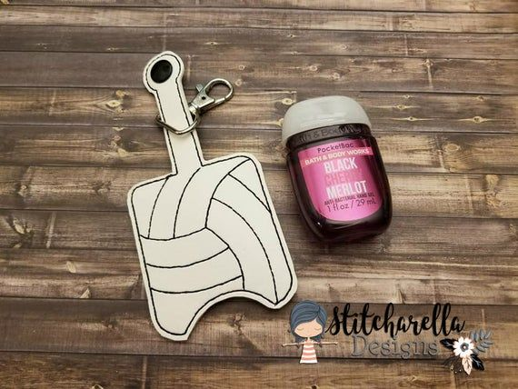 Volleyball Hand Sanitizer Holder Pocketbac Holder Personalized