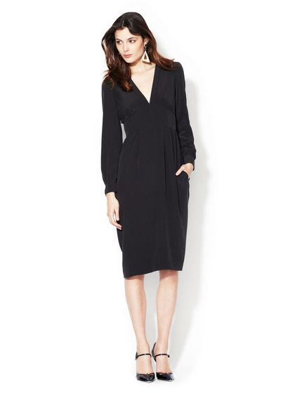 Michaela Silk Crepe V-Neck Dress by Marc by Marc Jacobs on Gilt.com