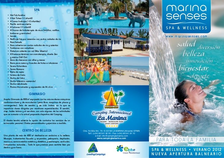 camping-la-marina-resort-spa-and-wellness by Camping La Marina Resort. SPA and Wellness Marina Senses via Slideshare