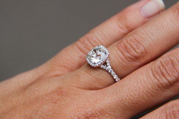 show off your halo diamond ring :  wedding diamong engament wedding band IMG 7636