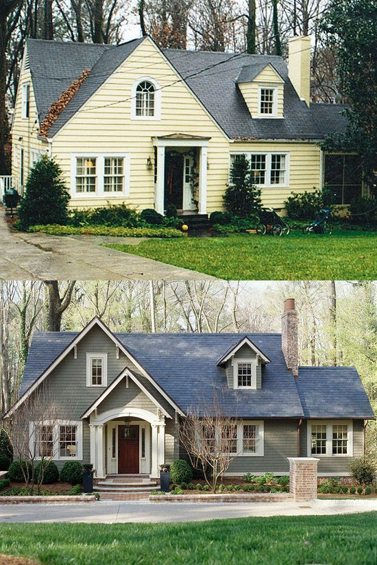 307 Best Images About Before After On Pinterest Home Exterior Makeover Porticos And