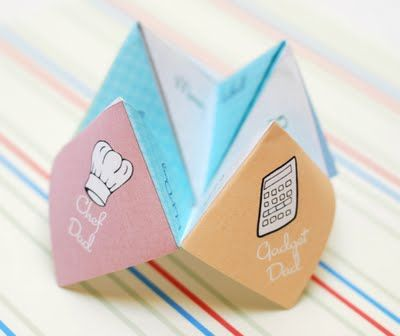 """bnute productions: Free Printable Father's Day """"Cootie Catcher"""" Coupons"""