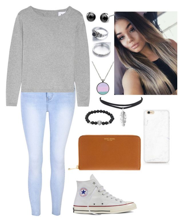 """""""Untitled #66"""" by bubblegumprincess831 on Polyvore featuring Glamorous, Converse and Henri Bendel"""