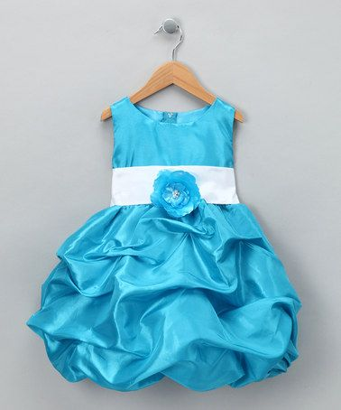 Take a look at this Turquoise Fancy Bon Bon Dress - Infant, Toddler & Girls by Kid Fashion on #zulily today!
