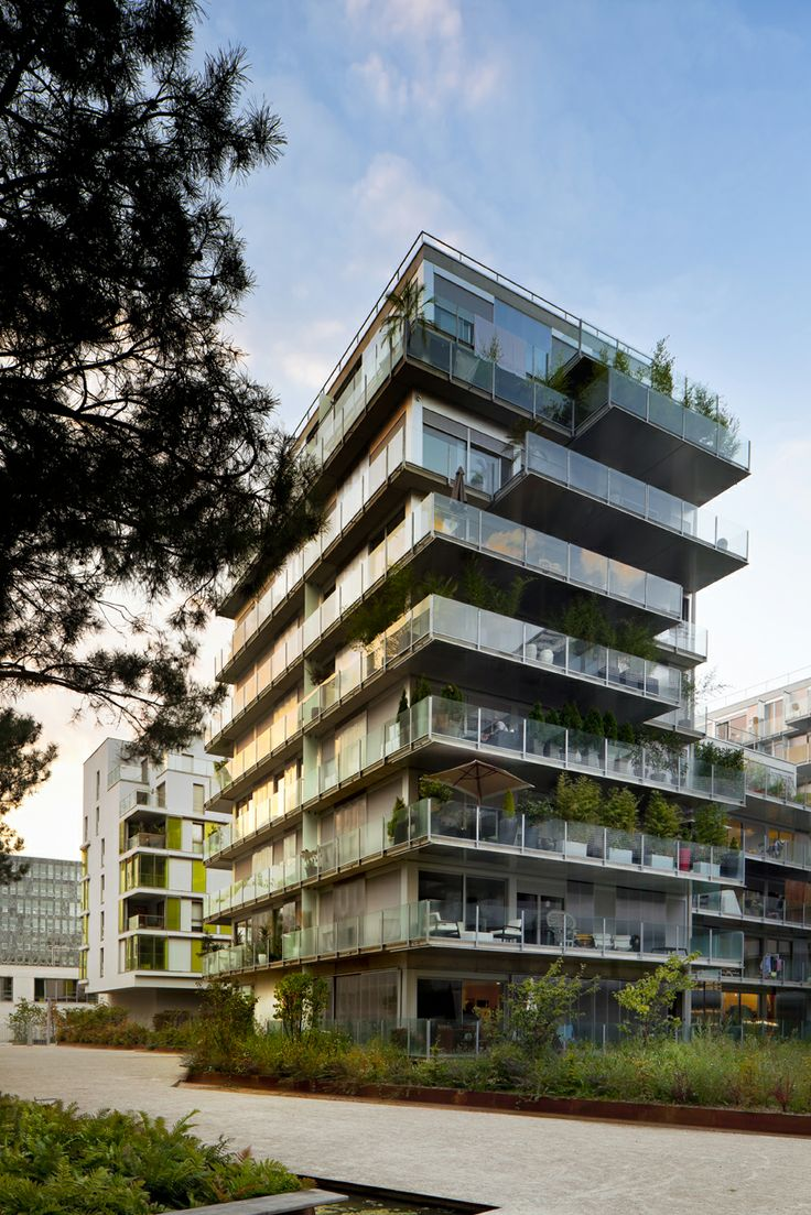 Balcony design ideas in apartment grenoble france home design and - Image 7 Of 24 From Gallery Of 73 Apartments Zac Seguin Rives De Seine Lot Philippe Dubus Architectes Photograph By Sergio Grazia