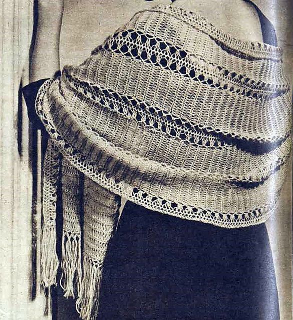 Ravelry: Glamor Stole Banded with Hairpin Lace pattern by Australian Women's Weekly