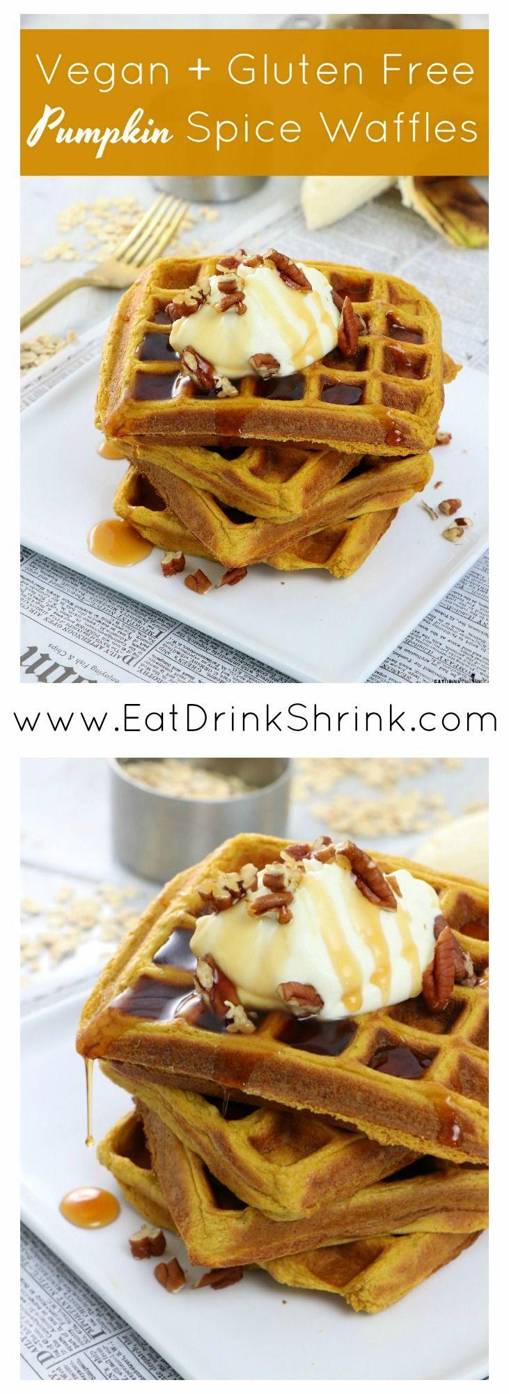 Vegan Gluten Free Pumpkin Spice Waffles Recipe Pumpkin