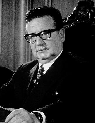 Salvador Allende Gossens (1908 - 1973) (Chili) politique, chef d'Etat