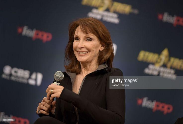 Actress Gates McFadden speaks during the Star Trek: Mission New York event at Javits Center on September 3, 2016 in New York City.