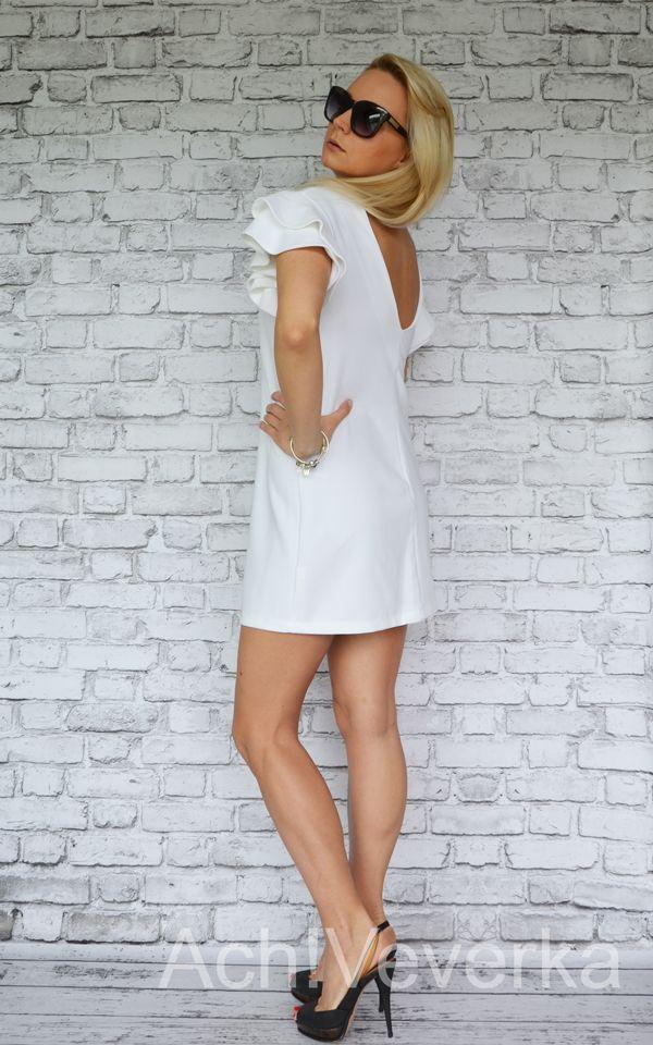 Sukienka O.N.E Fashion baiła. AchVever.pl #achveverka #white #dress #biała #sukienka