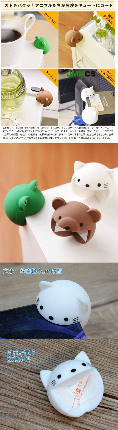 2pcs/pack baby safety corner Cute Silicone Baby Safety Protector Desk Table Corner Edge Protection Cover