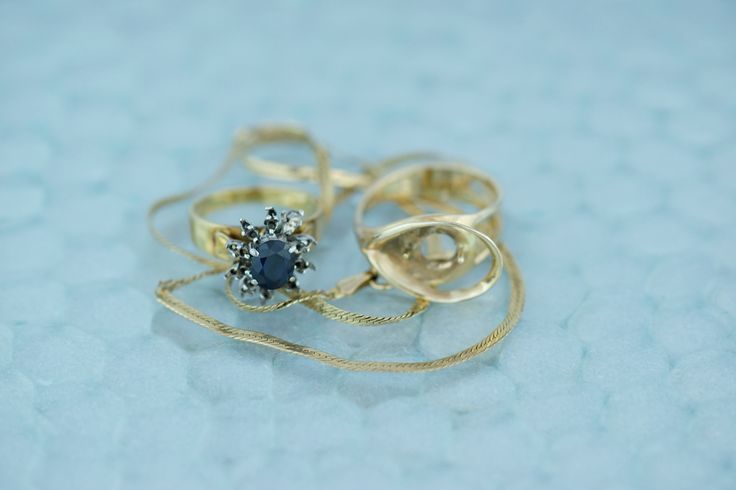 Anne's gold And sapphire before the melt