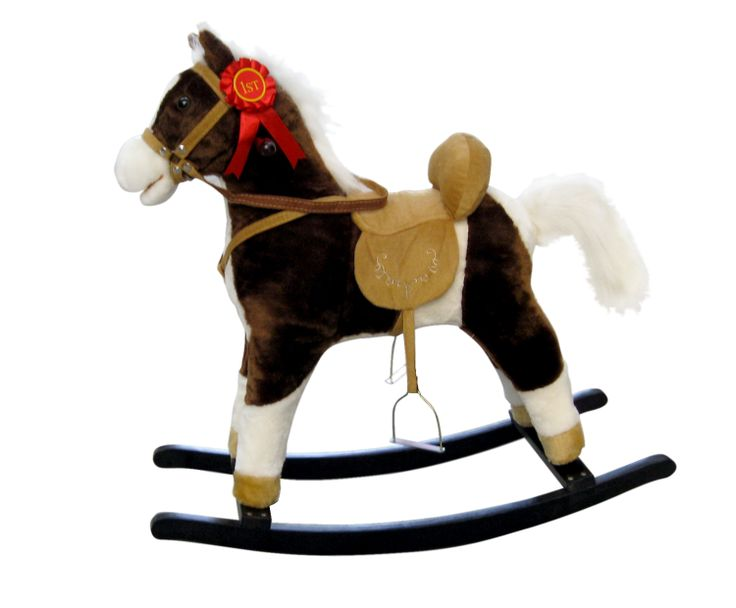El modelo caballo balancín mecedor Mustang es único. Es el caballo balancín con el que sueñan los mas peques. Además de la función tradicional de relincho, tiene de serie mas opciones atractivas para enriquecer y darle vida a la diversión. Tiene mecedoras de madera y mangos de madera.
