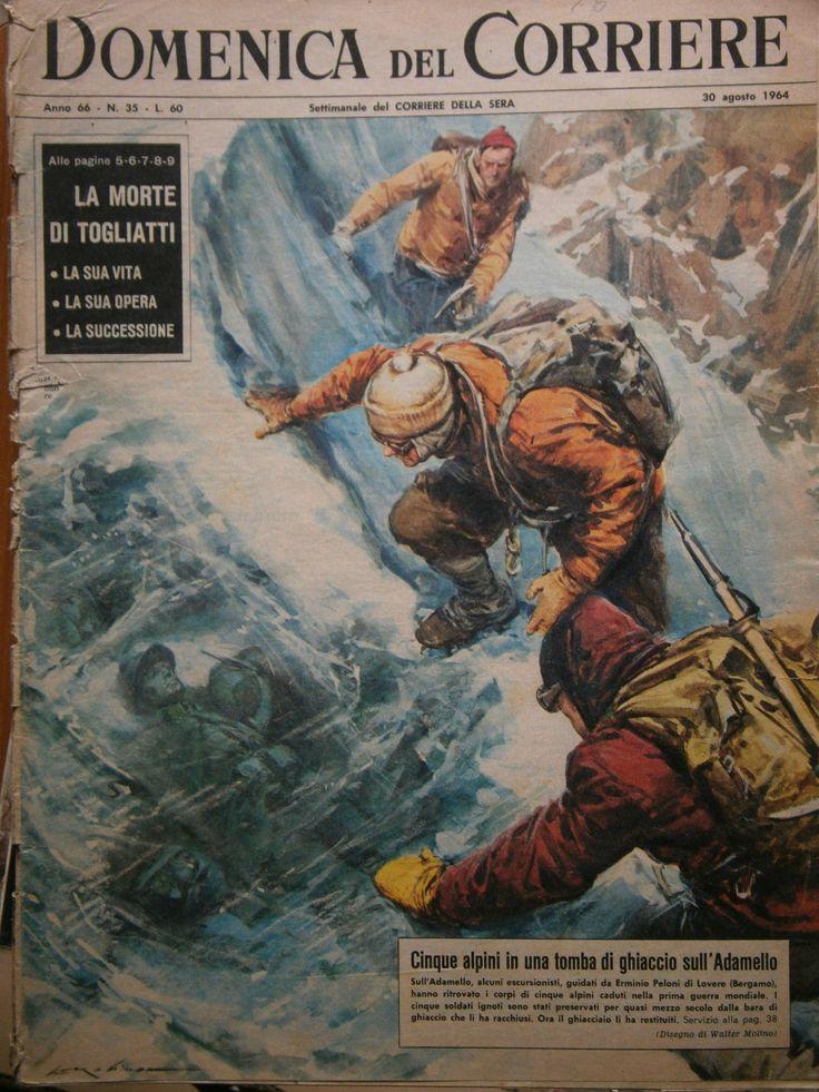 DOMENICA DEL CORRIERE N. 35 AGOSTO 1964 - LA MORTE DI TOGLIATTI /ALPINI ADAMELLO | eBay