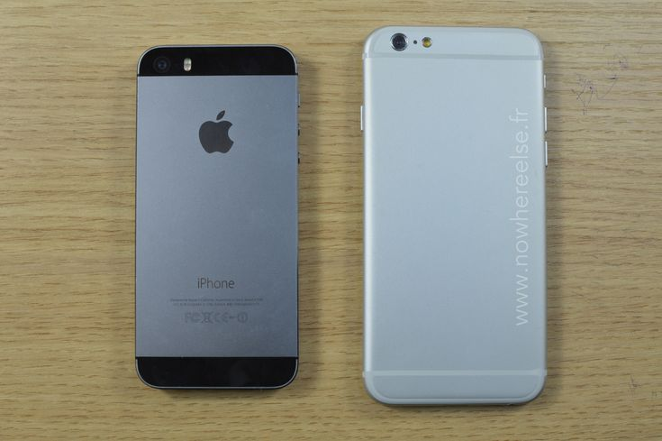 iPhone 6 dummy compared to iPhone 5S  Leaks about the iPhone 6 continue to surface as new renders of mockups of the future Apple smartphone have appeared online.