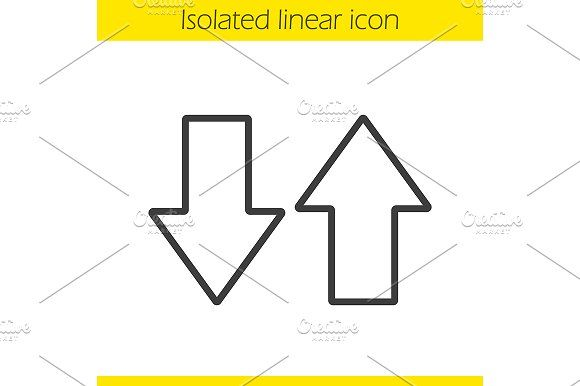 Up and down arrows icon. Vector  @creativework247