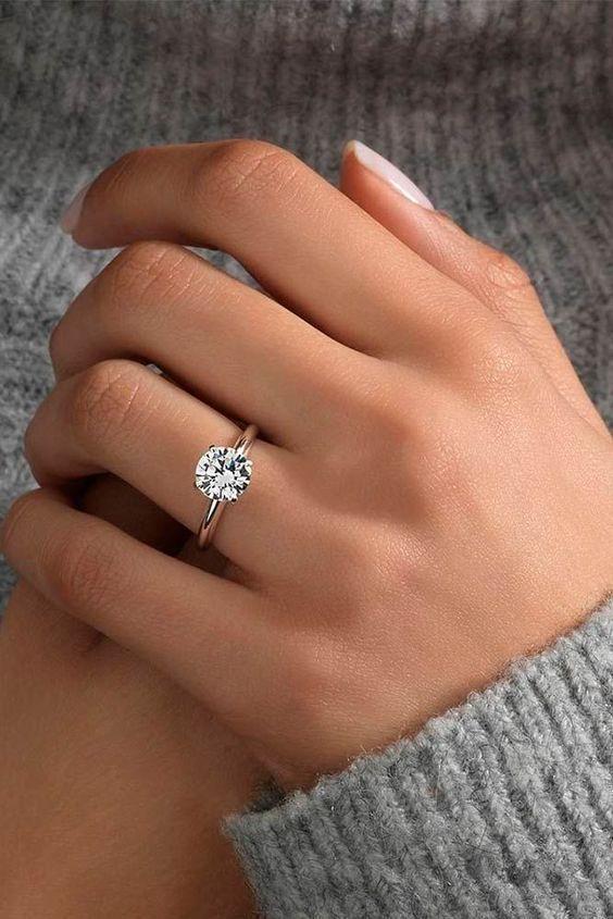 Details über 14k Gelbgold über 1.00Ct Rundschnitt Diamant Solitaire Verlobungsring