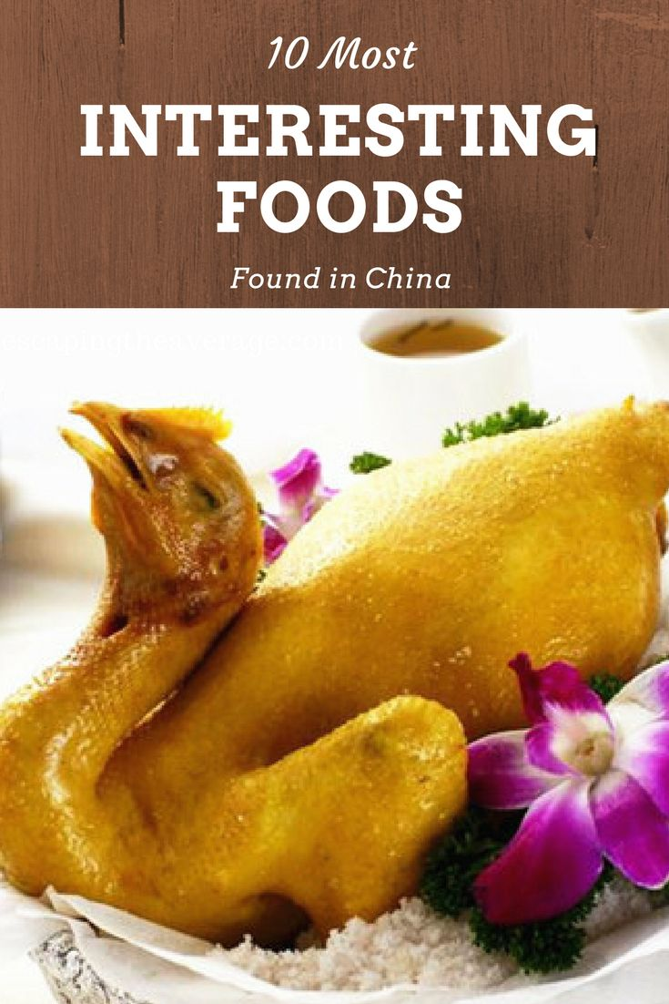 Check out of this list strange and interesting food you can find inside of China. Chinese food.