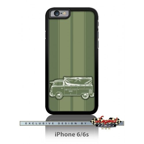 Volkswagen Kombi Utility Pickup Covered Bed Smartphone Case - Racing Stripes  Refined and stylish, this cell phone case is a perfect way to show your passion for a truly legendary car.  Available in Apple iPhone and Samsung Galaxy phones The case is made of Hard Plastic and Printed Aluminum Insert.  Germany  German  Car  Automotive  Classic  Vintage  Muscle  Sport   Tee Shirt  Legend Lines Men  Father  Husband  Dad  Son  Daughter  Friend  Driver  Collector    Racer  Gift  Christmas  Birthday