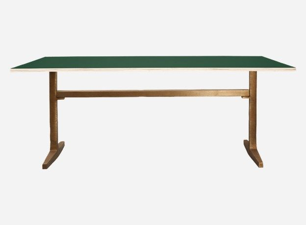 Mf0704 - Table top, Apart, hunter green, 200x80x2 cm