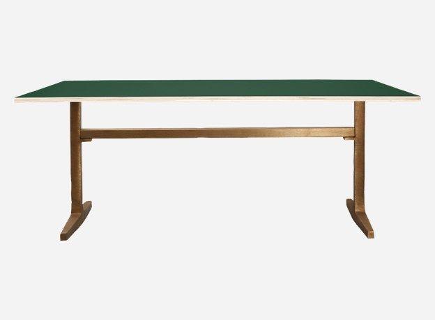 Mf0704 - Table top, Apart, hunter green, 200x80x2 cm