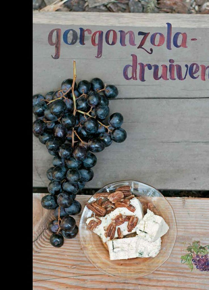 """Gorgonzola druiven: Een heerlijk, zonnig recept van Erin Gleeson, uit haar nieuwe boek """"Het forest feast kookboek"""". http://www.fontaineuitgevers.nl/wp/wp-content/uploads/978-90-5956-515-9-Het-forest-feast-kookboek.pdf"""