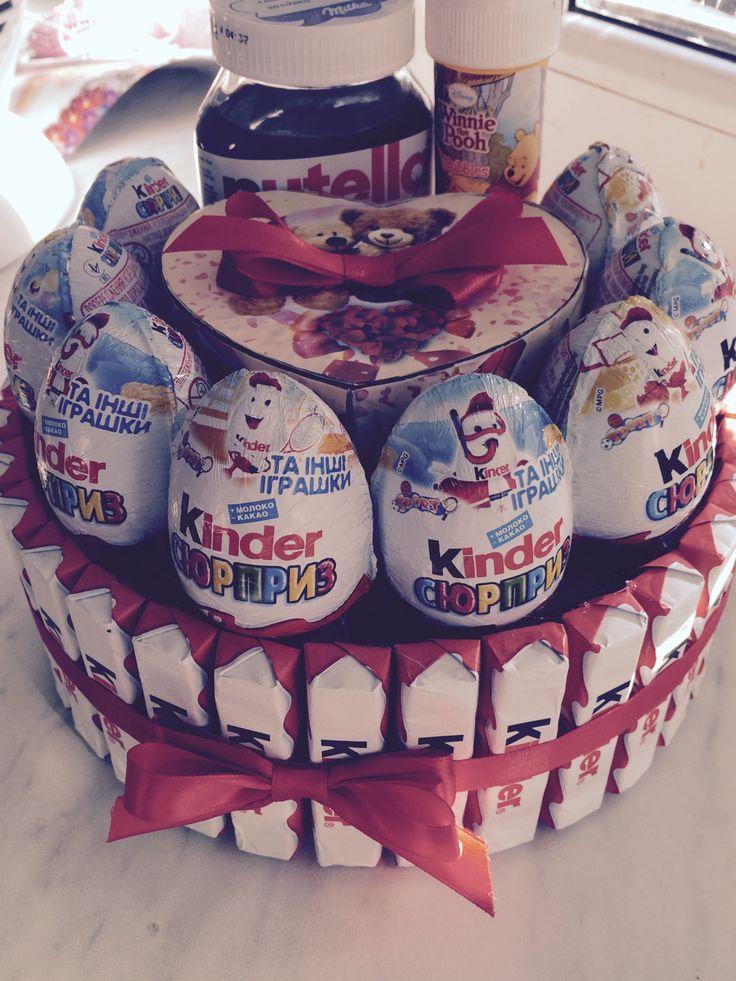 Торт KINDER сюрприз  #торт_на_заказ_харьков #день_рождения #шоколадный_торт #комбинированный_торт #без выпечки_торт