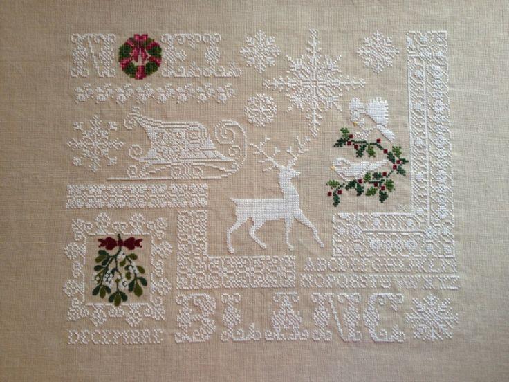 - No pattern -  Christmas holiday cross stitch     (1) Gallery.ru / Noel Blanc - Noel Blanc - elena-deni