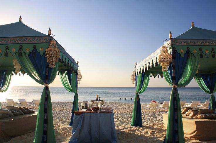 gorgeous raj tents on the beach in grand cayman for #engage11