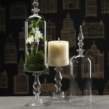 Paris Terrarium Cloche/ Candle Holder with Lid - Zodax: Ideas, Paris Terrarium, Lids Candlehold, Domes Foot, Candles Holders, Glasses Stands, Centerpieces, Foot Glasses, Domes Stands