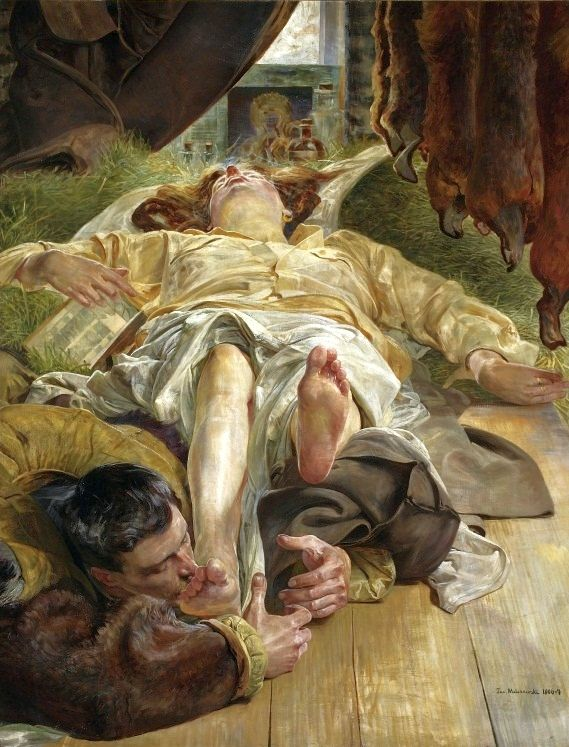 Jacek Malczewski - Death of Ellenai 1906-1907