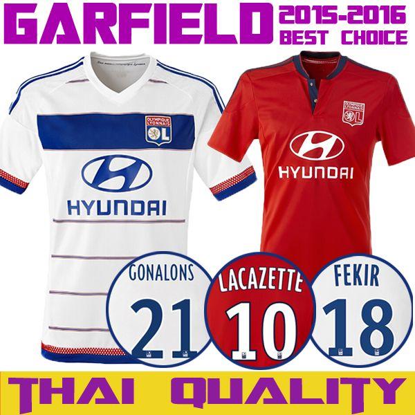 70daaa9cc54 ... 15 16 olympique lyonnais soccer jersey home white 10 lacazette 2016 ol lyon  football shirt away