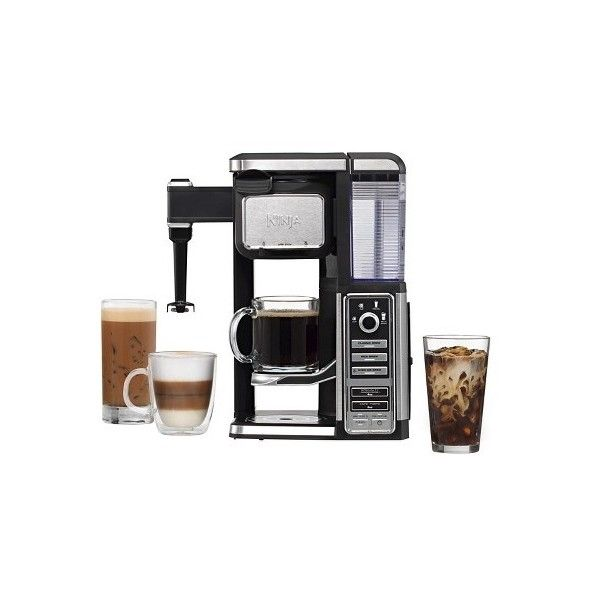 Ninja Coffee Bar Single-Serve System ($160) ❤ liked on Polyvore featuring home, kitchen & dining, small appliances, single serve coffee machine, coffee machines, single serve coffeemakers, cappuccino coffee machine and coffee cappuccino maker