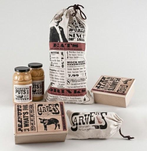 rustic food packaging