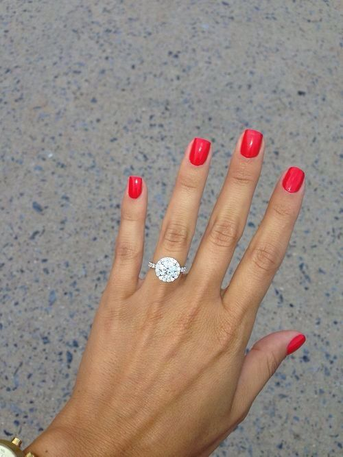 Love the shape of her nails, the color! Plus the ring.... Um love