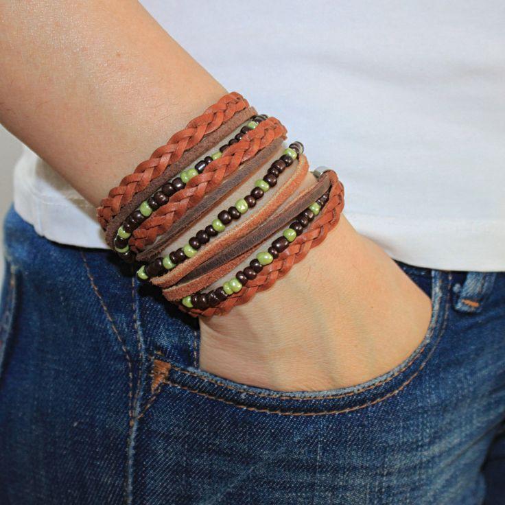 Triple Wrap BOHO Bracelet for Women , Beaded Bracelet , Bracelet For Women , Cool Bracelet, Women Bracelet , Womens Jewelry by JUNIPERANDELOISE on Etsy