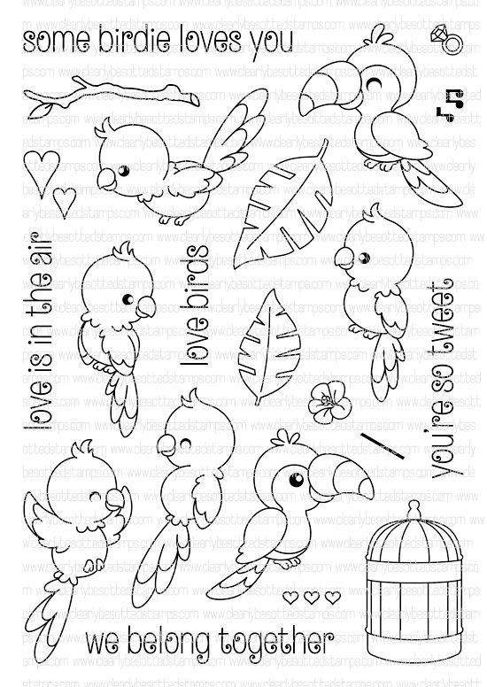 Clearly Besotted SOME BIRDIE LOVES YOU Clear Stamp Set  zoom image                                                                                                                                                     More