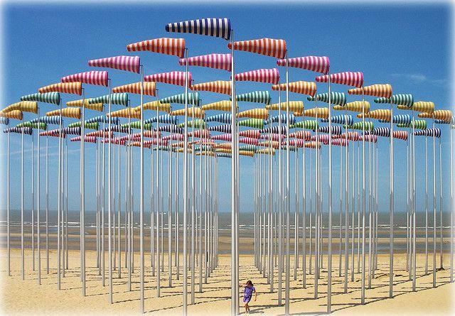 Manche à air - Le Vent souffle où il veut (2009) - Installation by French artist Daniel Buren.