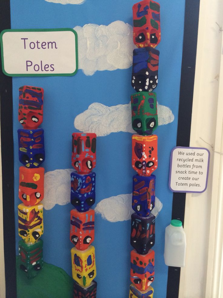 Milk bottle Totem poles