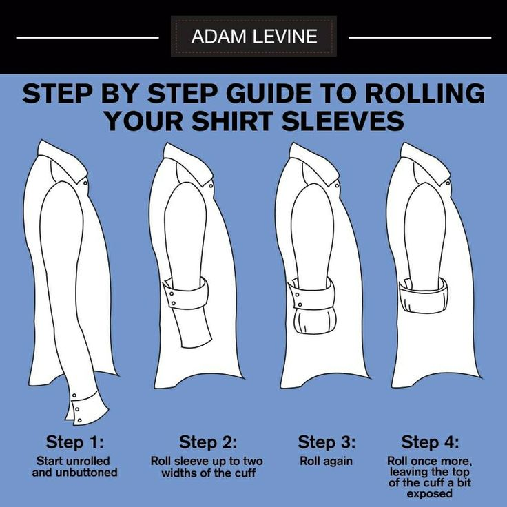 How to roll up your sleeves as if you needed showing ;)