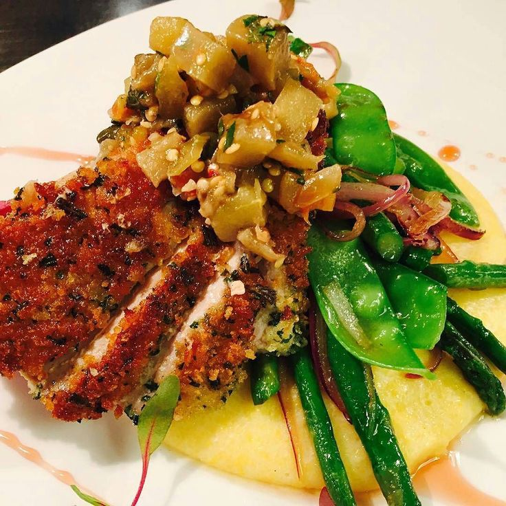 kitchen boss eggplant caponata%0A Try the Herbed panko crusted ahi tuna with creamy polenta spring vegetables eggplant  caponata and red
