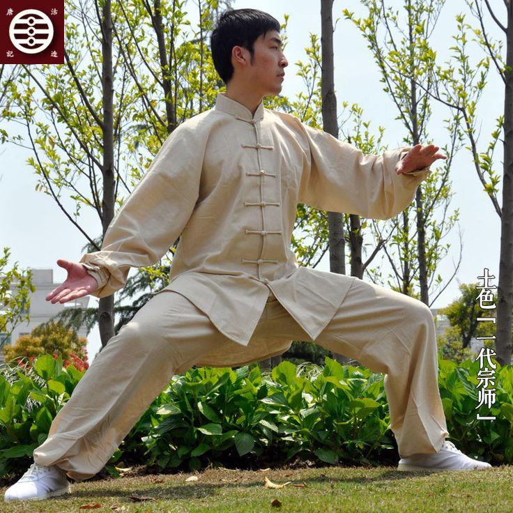Гу Тан Тай-чи одежды хлопок лен мужчины и женщины Тайцзицюань костюмы весна лето старые боевые искусства униформа