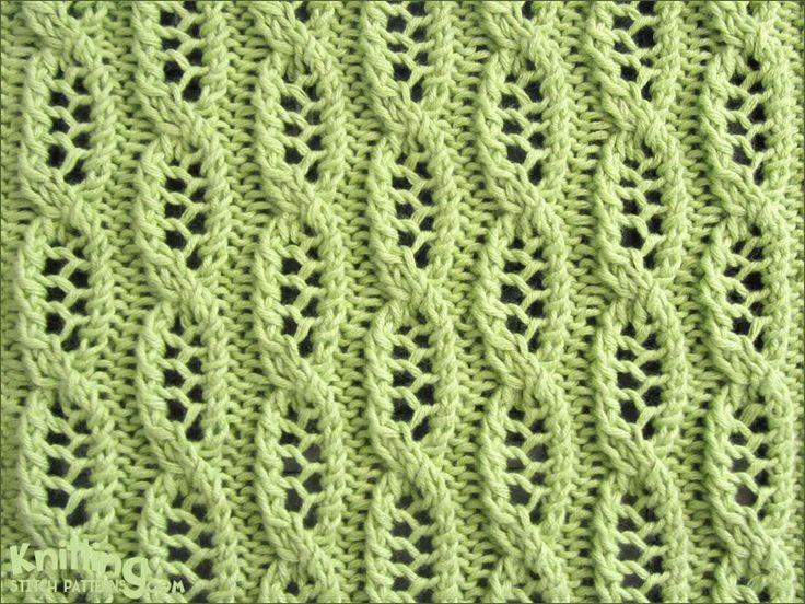 Lace Cable stitch pattern